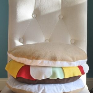 Supreme Accents Handcrafted Cheeseburger Pillow