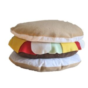 Supreme Accents Cheeseburger Pillow
