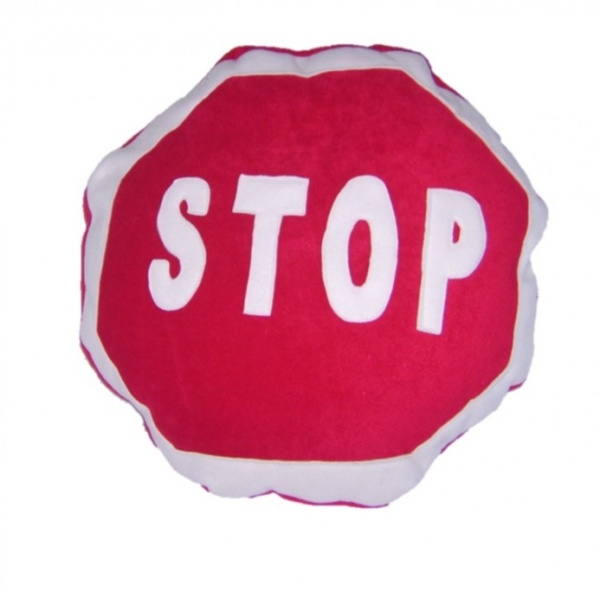 Supreme Accents Stop Sign Pillow