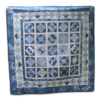 Supreme Accents Blue Diamonds Handmade Quilt