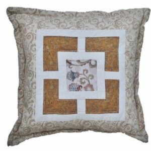 Supreme Accents Dawn Beige and Tan Handmade Accent Pillow
