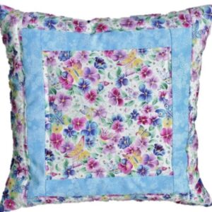 Supreme Accents Spring Blooms Accent Pillow Blue