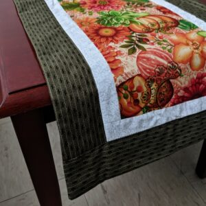 Supreme Accents Fall Pumpkins Handmade Table Runner